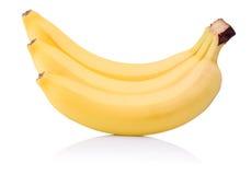 3 желтых банана зрелого   Стоковое Фото
