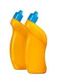 2 желтых бутылки с тензидом Стоковые Изображения