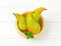 3 желтых груши Стоковое Фото