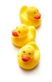 3 желтых игрушки утки Стоковые Фотографии RF