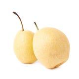 2 желтых изолированной груши Стоковая Фотография RF