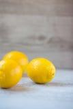 3 желтых лимона Стоковое фото RF