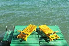 2 желтых кресла Стоковая Фотография RF
