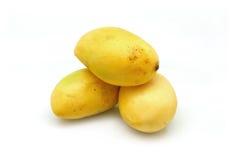 3 желтых манго Стоковая Фотография RF