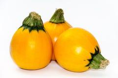 3 желтых овоща цукини на белизне Стоковые Изображения RF