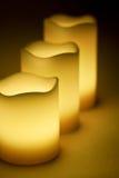 3 желтых свечи СИД Стоковая Фотография