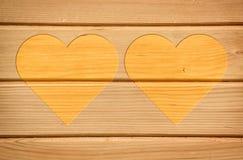 2 желтых сердца Стоковое Изображение RF