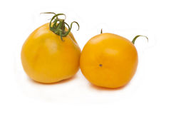 2 желтых томата Стоковое фото RF