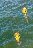 2 желтых шкива Стоковая Фотография RF