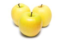 3 желтых яблока Стоковое Изображение RF