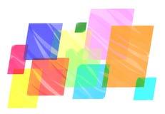 Живая геометрическая красочная предпосылка Минималистский фон для представления офиса Крышка дела или шаблон знамени Стоковое Изображение RF