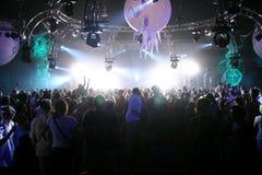 Живая музыка и люди Стоковая Фотография RF