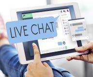 Живет концепция сети цифров связи болтовни беседуя Стоковая Фотография RF