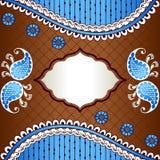 Живое знамя воодушевленное индийскими дизайнами mehndi Стоковые Фото