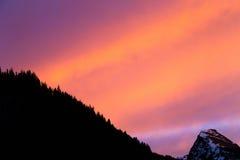 Живое образование облака захода солнца Стоковые Фото