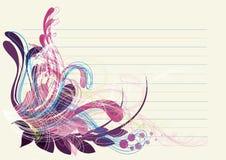 живое предпосылки голубое глубокое флористическое пурпуровое Стоковые Изображения RF