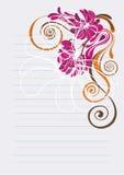 живое предпосылки флористическое померанцовое розовое Стоковые Фотографии RF