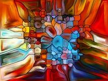 Живое цветное стекло Стоковое Изображение