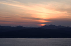Живое Cloudscape на восходе солнца Стоковое Фото