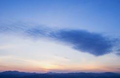 Живое Cloudscape на восходе солнца Стоковые Изображения RF
