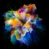 Живой взрыв выплеска цвета стоковые фото