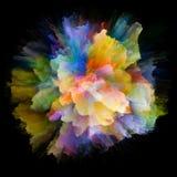 Живой взрыв выплеска цвета стоковые изображения