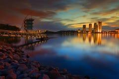 Живой восход солнца Стоковая Фотография RF