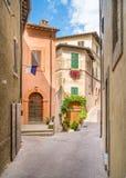 Живописная видимость в Trevi, старой деревне в области Умбрии Италии стоковое изображение