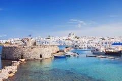 Живописная деревня Naousa, остров Paros, Киклады, Греция Стоковое фото RF