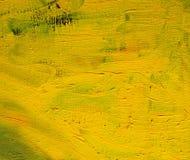 Живописная желтая предпосылка абстрактная предпосылка Стоковое фото RF