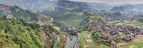 Живописная местность моста ветра и дождя Chengyang стоковое изображение rf