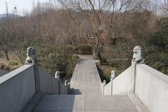 Живописная местность озера Ханчжоу западная Стоковое Изображение