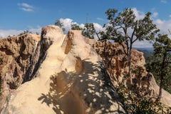 Живописное место каньона Pai чудесное в северном Таиланде, панорамном виде Lan Kong с узким следом стоковое фото