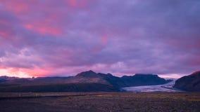 Живописные ландшафты и северный свет в Исландии стоковая фотография