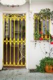 Живописные slatted дверь и окно Стоковое Изображение RF