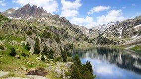 Живописный ландшафт природы с озером стоковое изображение