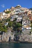 Живописный взгляд деревни Positano, Италии Стоковые Изображения RF