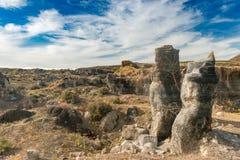 Живописный взгляд пустыни Lanzarotte с скалами Стоковое Фото