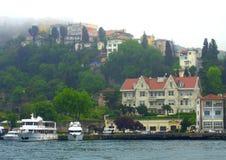 Живописный взгляд Bosphorus Стоковое Изображение RF
