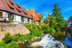 Живописный взгляд Kaysersberg, Эльзаса, Франции Стоковые Изображения RF