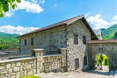 Живописный двор монастыря Moraca Стоковое Изображение RF
