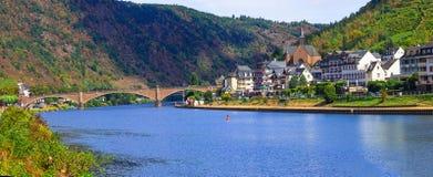 Живописный городок Cochem в Рейне в Германии Стоковое Изображение RF