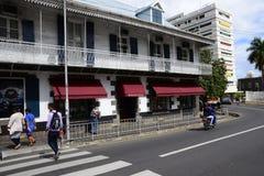 Живописный город Порт Луи в республике Маврикия Стоковое Изображение RF
