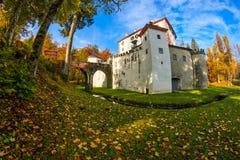 Живописный замок Sneznik тринадцатого века Стоковые Изображения RF