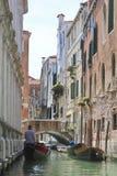 Живописный канал в Венеции Стоковая Фотография RF