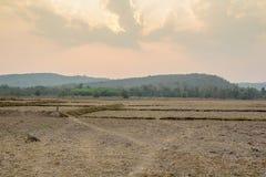 Живописный ландшафт степи с горами Стоковая Фотография RF
