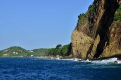 Живописный остров Сент-Люсия в Вест-Индиях стоковые изображения rf