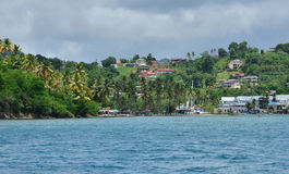 Живописный остров Сент-Люсия в Вест-Индиях стоковые изображения