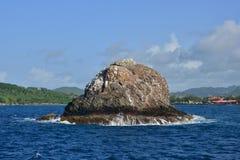 Живописный остров Сент-Люсия в Вест-Индиях стоковые фото