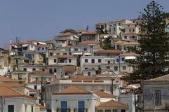 Живописный остров Poros в заливе Saronic Стоковые Фото